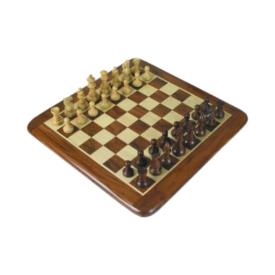 Chess figures - teak and box tree - King size 76mm