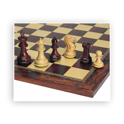 Chess figures - Rosewood and Boxwood - King size 89mm