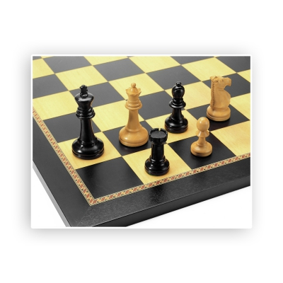 Chess figures - ebony and boxwood - King size 95mm