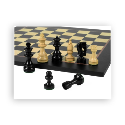 Chess figures - Russian Style - Black - King size 89mm