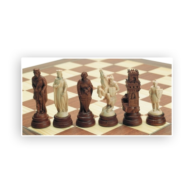 Chess figures - carved - Maple - King size 105mm