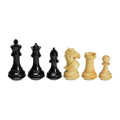 Chess figures - ebony and boxwood - King size 102mm