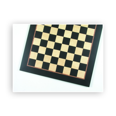 Chessboard - Inlay - Zebrano with dentil - Width 50 cm - box size 50 mm