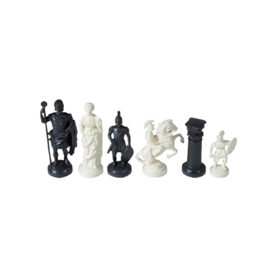 Chess figures - plastic - Romans - King size 97mm
