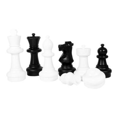 Outdoor chess figures - black and white - large - King size 64cm