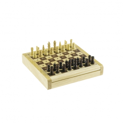 Plug chess - wooden - 12 x 12 cm