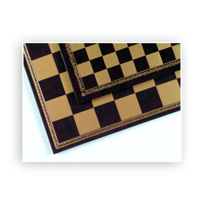 Chessboard - Salpaleder - gold and red - width 39.5 cm - field size 45 mm