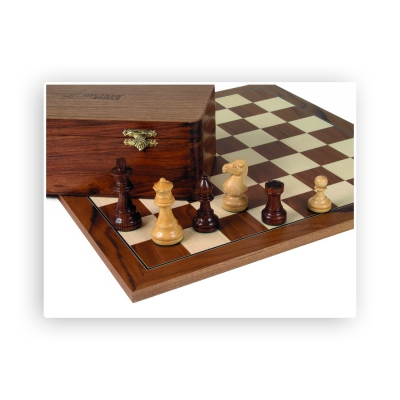Chess figures - teak and box tree - King size 83mm