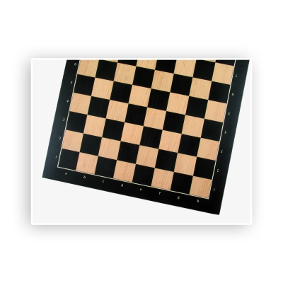 Chessboard - Anigre with numbers and letters - Width 52cm - 55cm field size