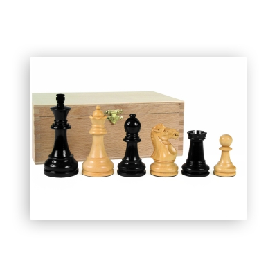 Chess figures - Grand Staunton - black - King size 95mm