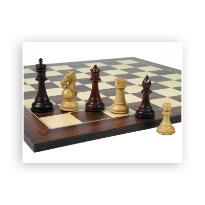 Chess figures - Intended - hand carved knights - King size 115mm