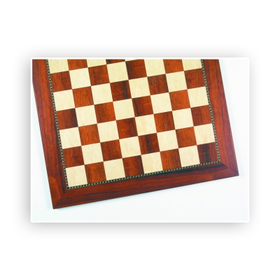 Chess board - Afrikanisches Padouk and ash - width 60 cm - field size 60 mm