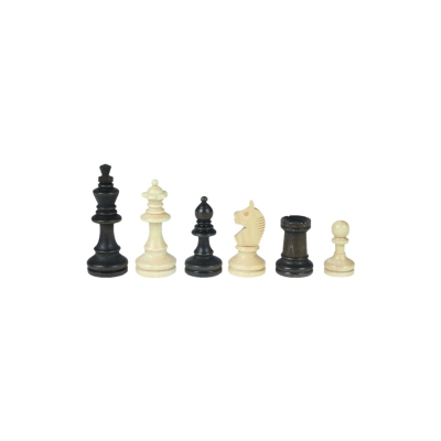Chessmen - Bohemia - Staunton - brown - king height 62 mm