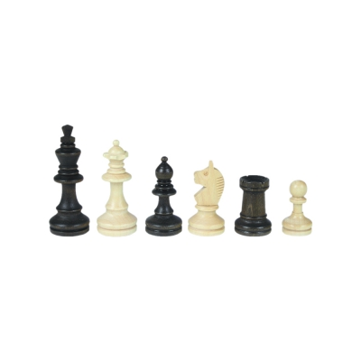 Chessmen - Bohemia - Staunton - brown - king height 84 mm