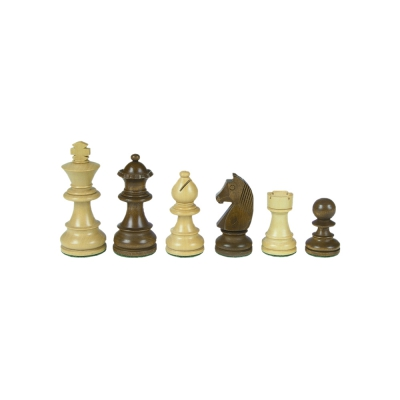 Chessmen - Staunton - brown - king height 76 mm