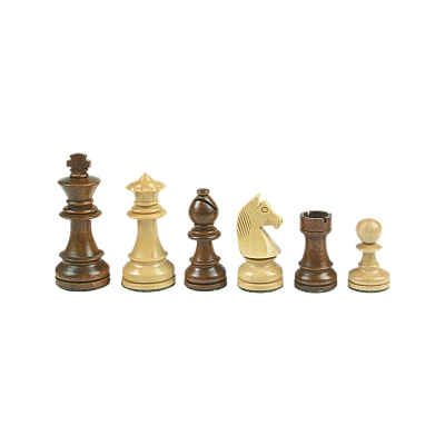 Chesmen Set- Staunton - brown - king height 84 mm - weighted