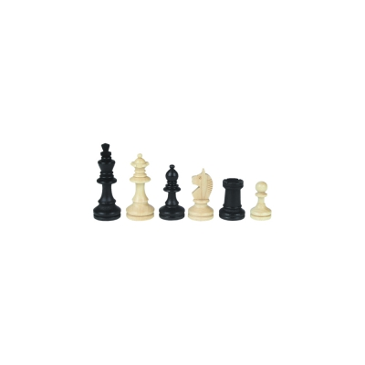 Chessmen - Bohemia - Staunton - black - king height 45 mm