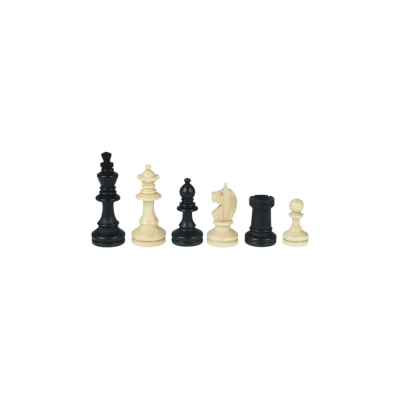 Chessmen - Bohemia - Staunton - black - king height 55 mm
