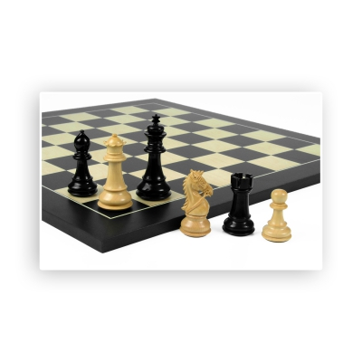 Chess figures - Staunton - painted black - King size 83mm