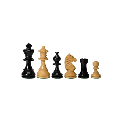 chess figures - ebony and Buxus - 76 mm