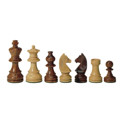 chess figures - teak and buxus - king height 112 mm