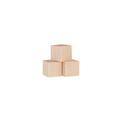 Dice - game piece - edged - nature - wood - 10 mm