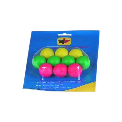 10 wooden target balls - colored - coated
