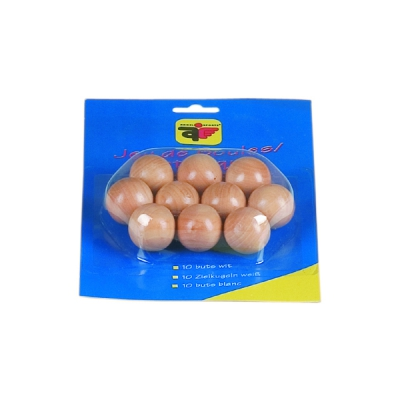 10 wooden target balls - natural finish - coated