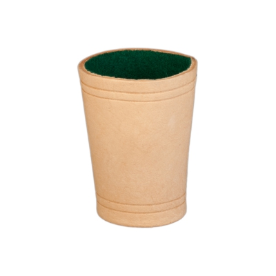Leather-dice cup - ca. 8,5 x 6,5 cm - nature - leather