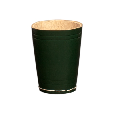 dice cup made from leather - ca. 8,5 cm x 6,5 cm - green