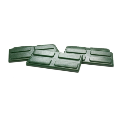 gaming piece - playing pieces - rectangular - darkgreen