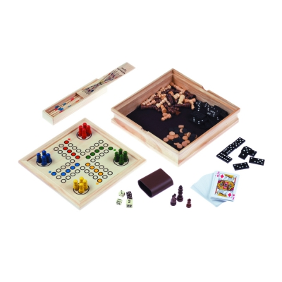 Games Collection - made from wood - includes 6 games