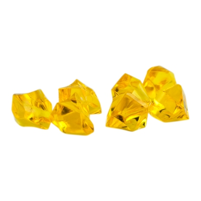 Gemstones - game piece - yellow - plastic - ca. 13 mm