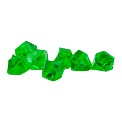 Gemstones - game piece - green - plastic - ca. 13 mm