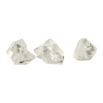 Gemstones - game piece - colorless - plastic - ca. 13 mm