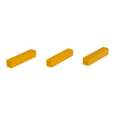 Sticks - game pieces - streets - wood - yellow - 25 mm
