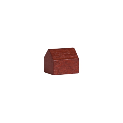 house - village - game pieces - wood - brown - 14x10x12mm