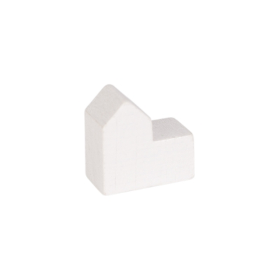 Church - house - city - game pieces - white - COLOR - 20x19x10mm