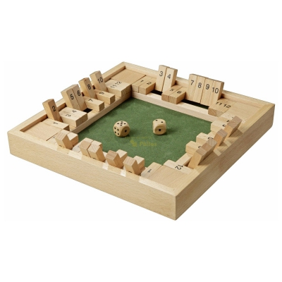 Shut The Box - 12er - für 1-4 Personen - Buche