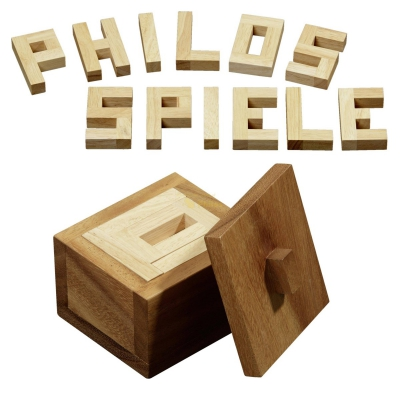 Philos Puzzle  - hevea- and samena-wood - 12 puzzle pieces