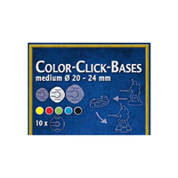 Color-Click Bases Medium (10) - 20-24mm BLUE