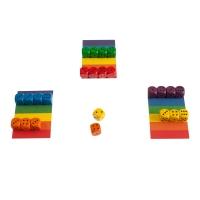 6 Richtige - Regenbogenwürfelei - Würfelspiel