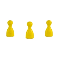 Halmakegel - Pöppel - Holz - gelb - 24 x 12 mm