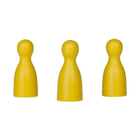 Chinese checkers pieces - Meeple - wood - yellow - 40 x 18 mm