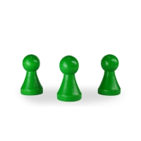 XL Chinese checkers pieces - Meeple - wood - green - ca 43 x 25 mm
