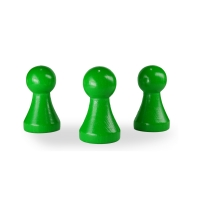 XXL Chinese checkers pieces - Meeple - wood - green - 50 x 28 mm
