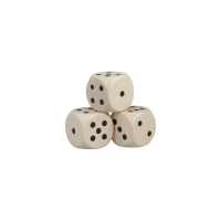 Dice (D6) - wooden - nature - 16 mm