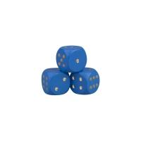 Würfel aus Holz - blau - W6 - 16mm