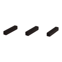 Sticks - game pieces - streets - wood - black - 25 mm