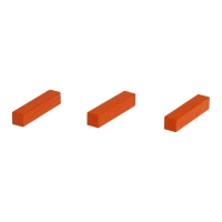 Sticks - game pieces - streets - wood - orange - 25 mm